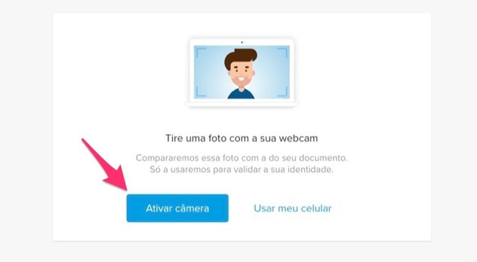 Kui aktiveerite arvuti veebikaamera, et teha fotosid, mis kinnitatakse Mercado Pago kontole Foto: Reproduo / Marvin Costa
