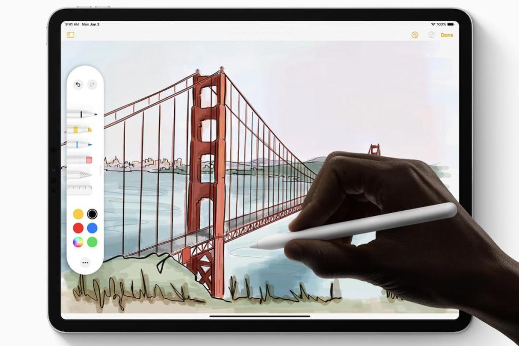 IPadOS-iga on Apple Pencil iPadi paremini integreeritud