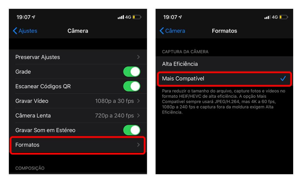 .jpg ja h.264 vormingus iOS 11 või uuemas versioonis