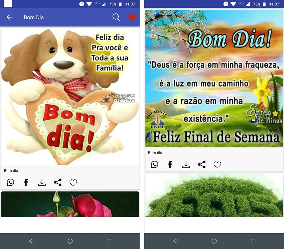 Daily Images sisaldab kauneid fraase: Tere hommikust WhatsApp Photos: Reproduo / Rodrigo Fernandes