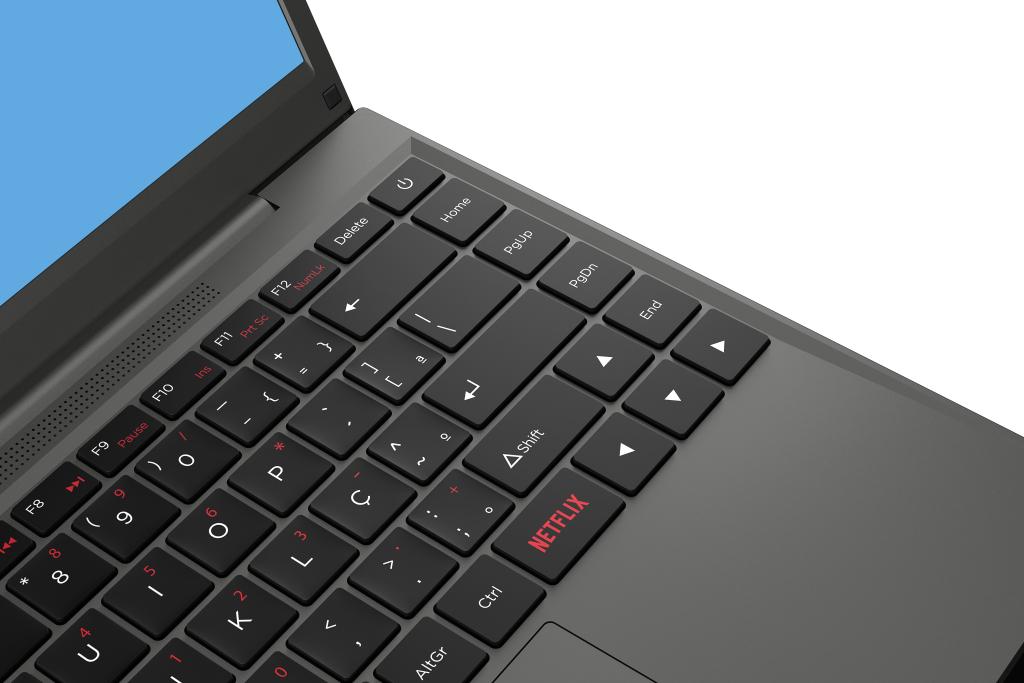Sülearvutil on Netflixi nupp.