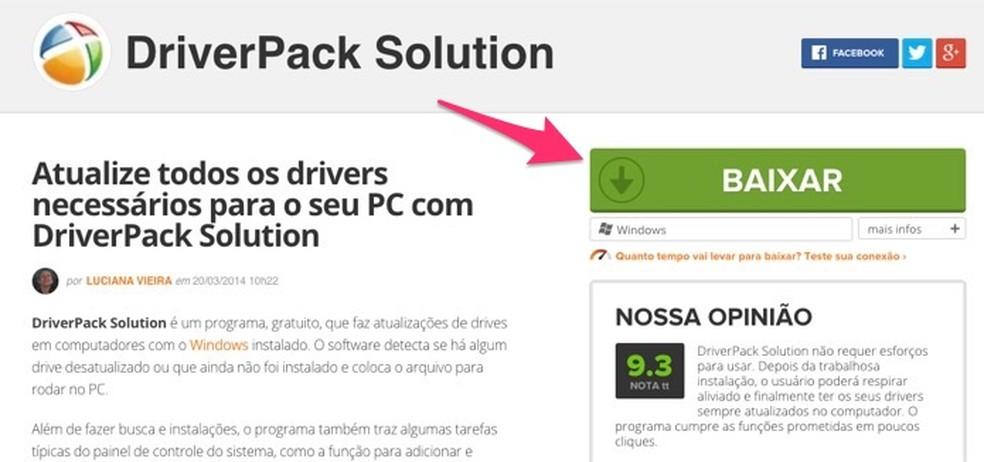 Millal alustada tarkvara DriverPack allalaadimist Windowsi fotol: Reproduo / Marvin Costa