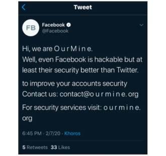 Jäädvustus näitab sõnumeid häkkerite gruppidest, kes häkkerid Facebooki kontosid puperdasid