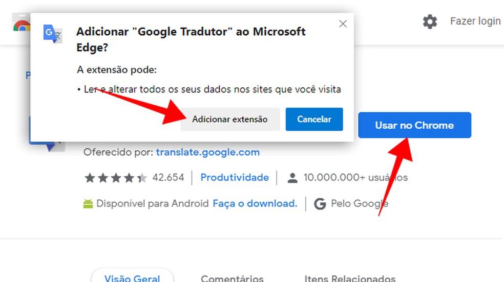 Installige Chrome'i laiend Microsoft Edge Photo: Reproduo / Paulo Alves
