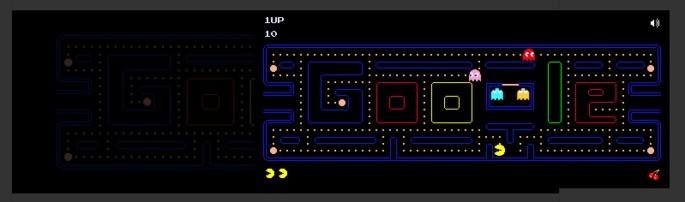 Google Pac Mani mäng