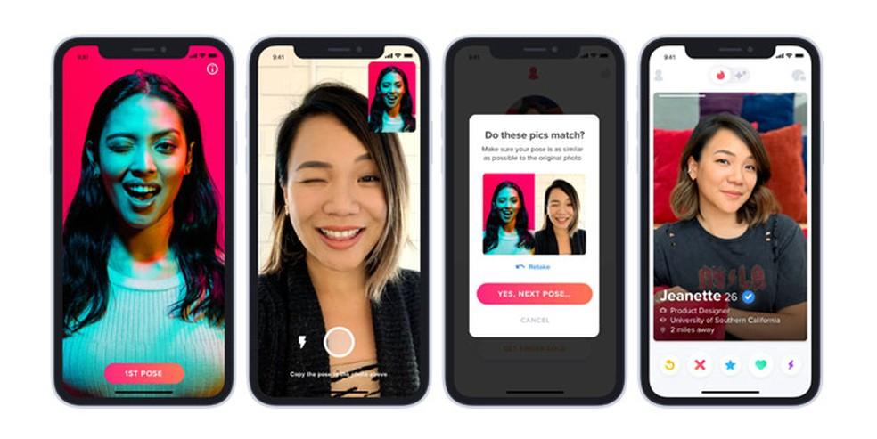 Kasutajad peavad tegema selfie, et tõestada, et nad on ise. Foto: Divulgao / Tinder