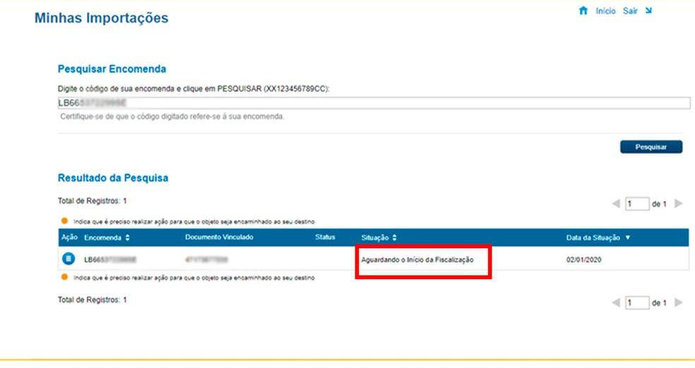 Kasutajad saavad tellimuse olekut jälgida veebisaidil Minu import foto: Reproduktsioon / Caroline Doms