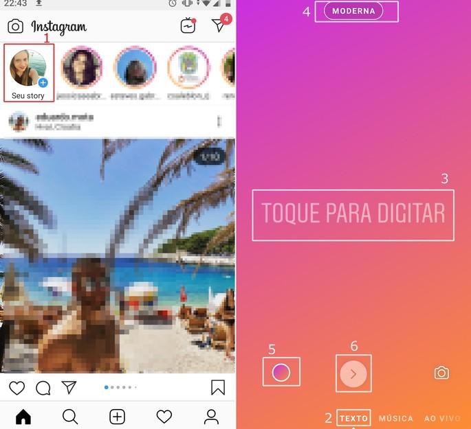Muutke Instagrami fonte ja tähti