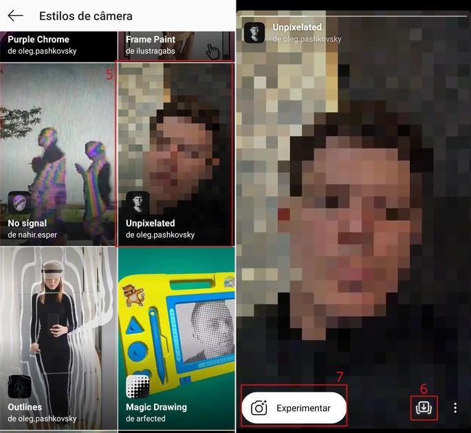 Instagrami loo efektid