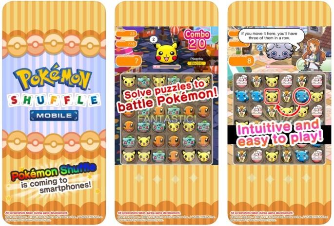Android Pokemon Pokemon Shuffle mäng