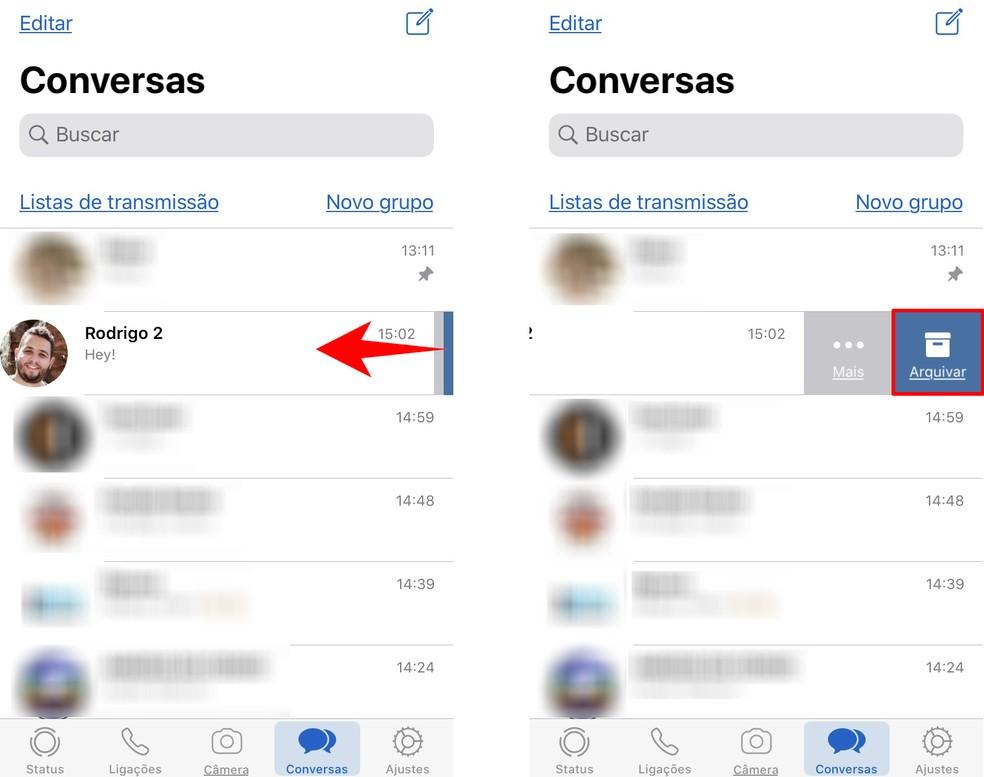Kuidas arhiivida WhatsApi vestlusi iPhone'is Foto: Reproduo / Rodrigo Fernandes