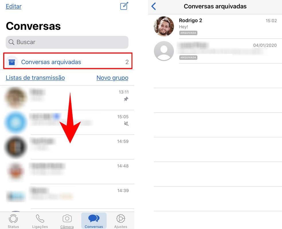 Blokeeritud vestluste loend on peidetud iPhone'i fotodesse: Reproduo / Rodrigo Fernandes