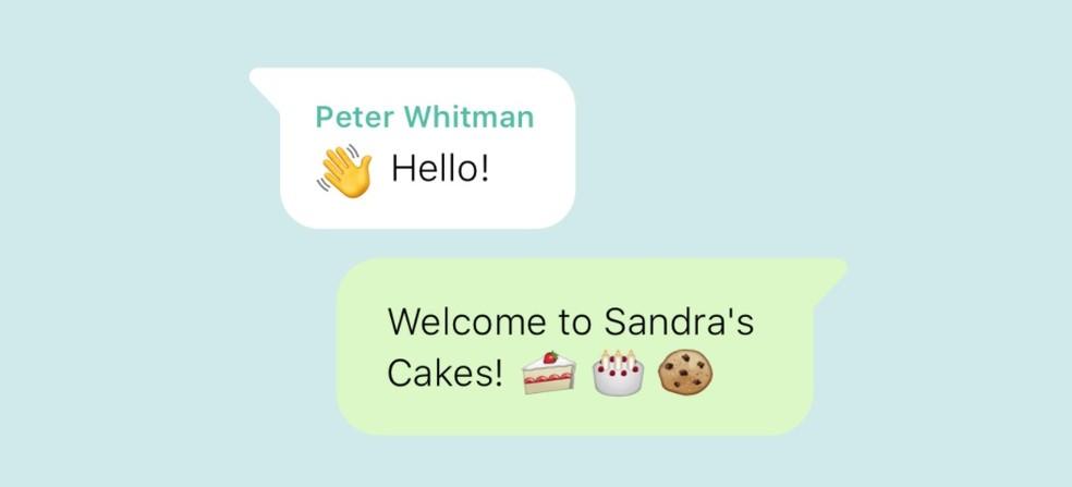 WhatsApp Business Photo automaatse sõnumi näide: Divulgao / WhatsApp
