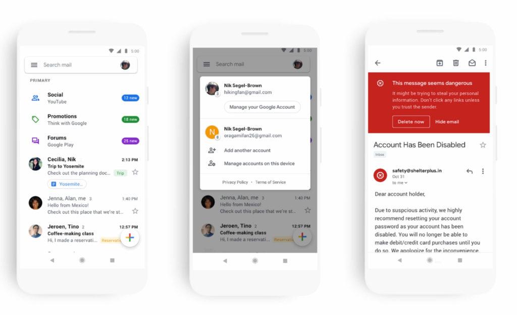 Gmail saab nutitelefonide jaoks uue liidese