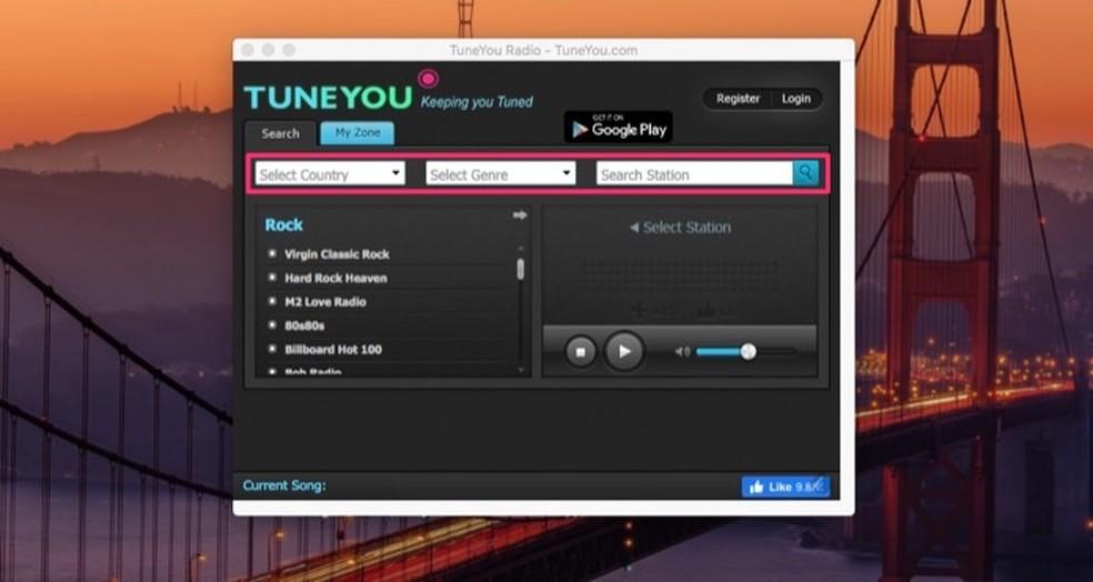 Raadiojaamade otsinguvõimalused raadio Chrome Photo laiendusel: Reproduction / Marvin Costa