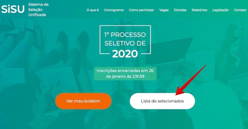 Juurdepääs Sisu veebisaidile ja klõpsake kuvatud nuppu Foto: Reproduo / Helito Beggiora