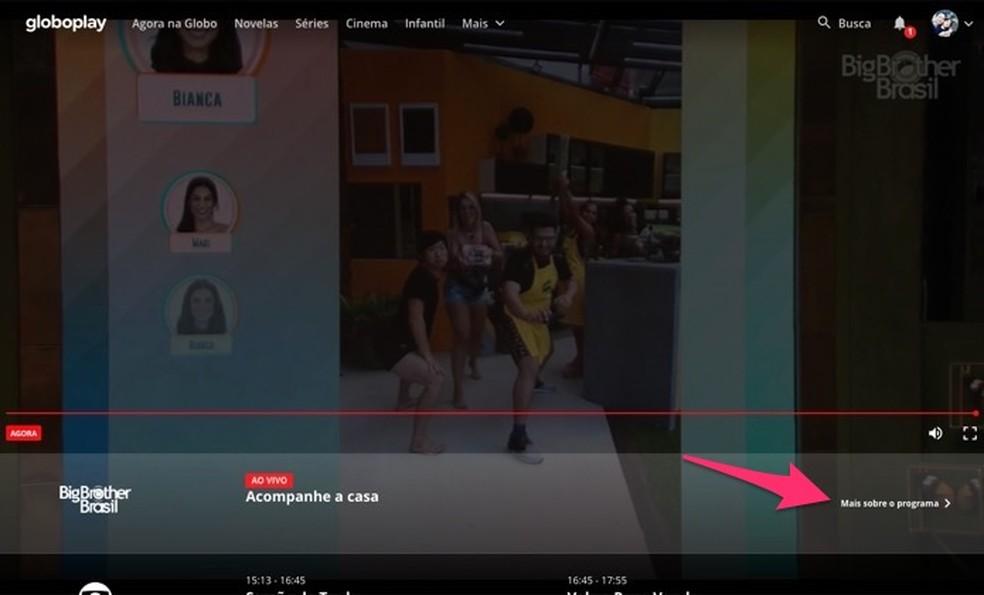 Ekraanil kuvatakse Globoplay kaudu otse BBB 20. kodus juhtunud foto.Foto: Reproduo / Marvin Costa