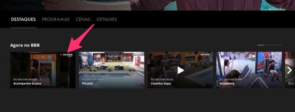 Tegevus avaliku kaamera BBB 20 käivitamiseks Globoplay fototeenuse kaudu: Reproduo / Marvin Costa