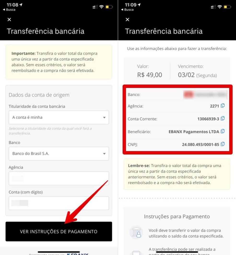 Konto teave rahaülekannete kohta Foto: Reproduo / Helito Beggiora