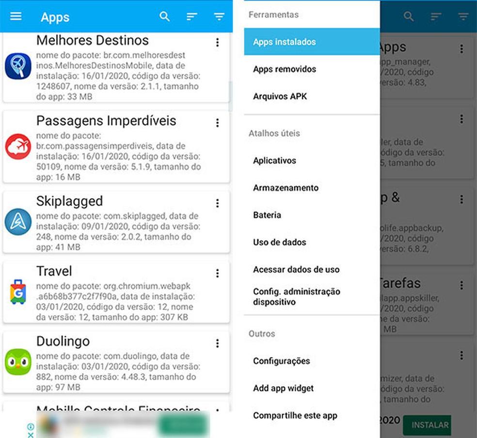 Android-seadme optimeerimiseks kasutage rakendusehalduri tööriista. Foto: Reproduo / Fernanda Lutfi
