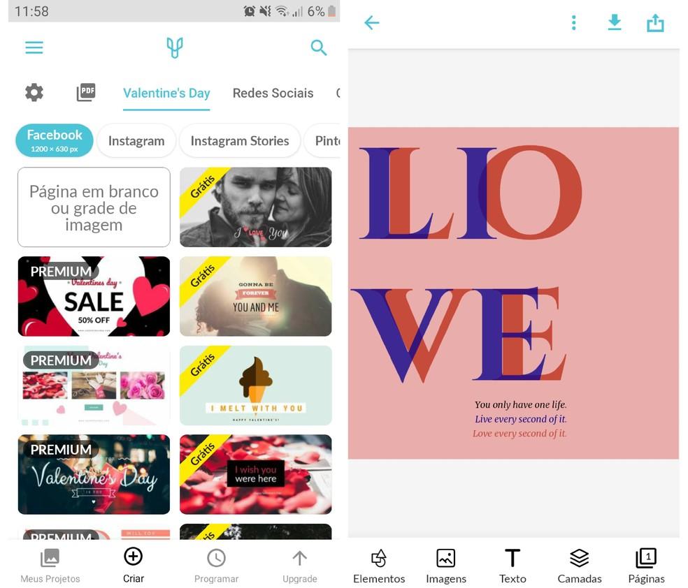 Lisaks graafilise kunsti loomisele on Desygneril ka reklaamipaigutuse skeem sotsiaalsetes võrgustikes. Foto: Reproduo / Graziela Silva
