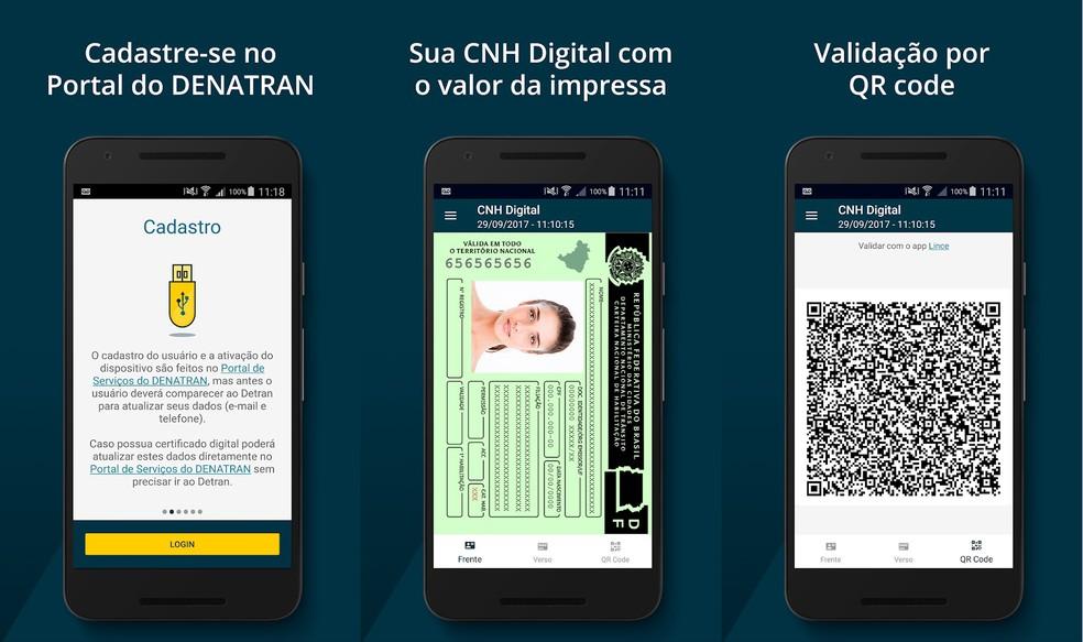 Digitaalsel CNH-l ja CRLV-l on turvalisus QR-kood Foto: Divulgao / Denatran Service Portal