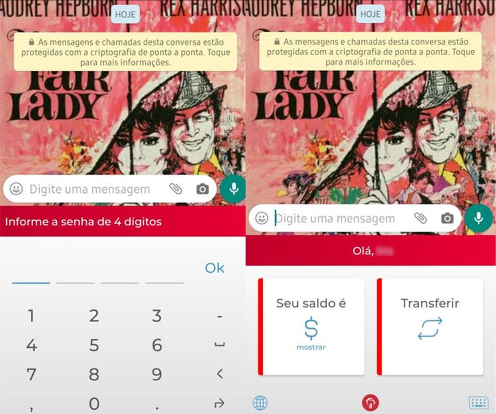 Bradesco klaviatuur võimaldab teil teha ülekandeid ilma Photo: Reproduo / TechTudo pangarakendust avamata