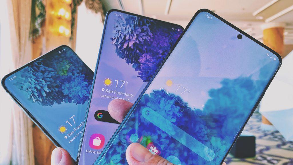 Samsung S20 nutitelefoni liin