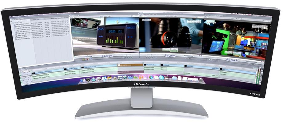 Ostendo on turustanud 43-tollist kumerat ekraani