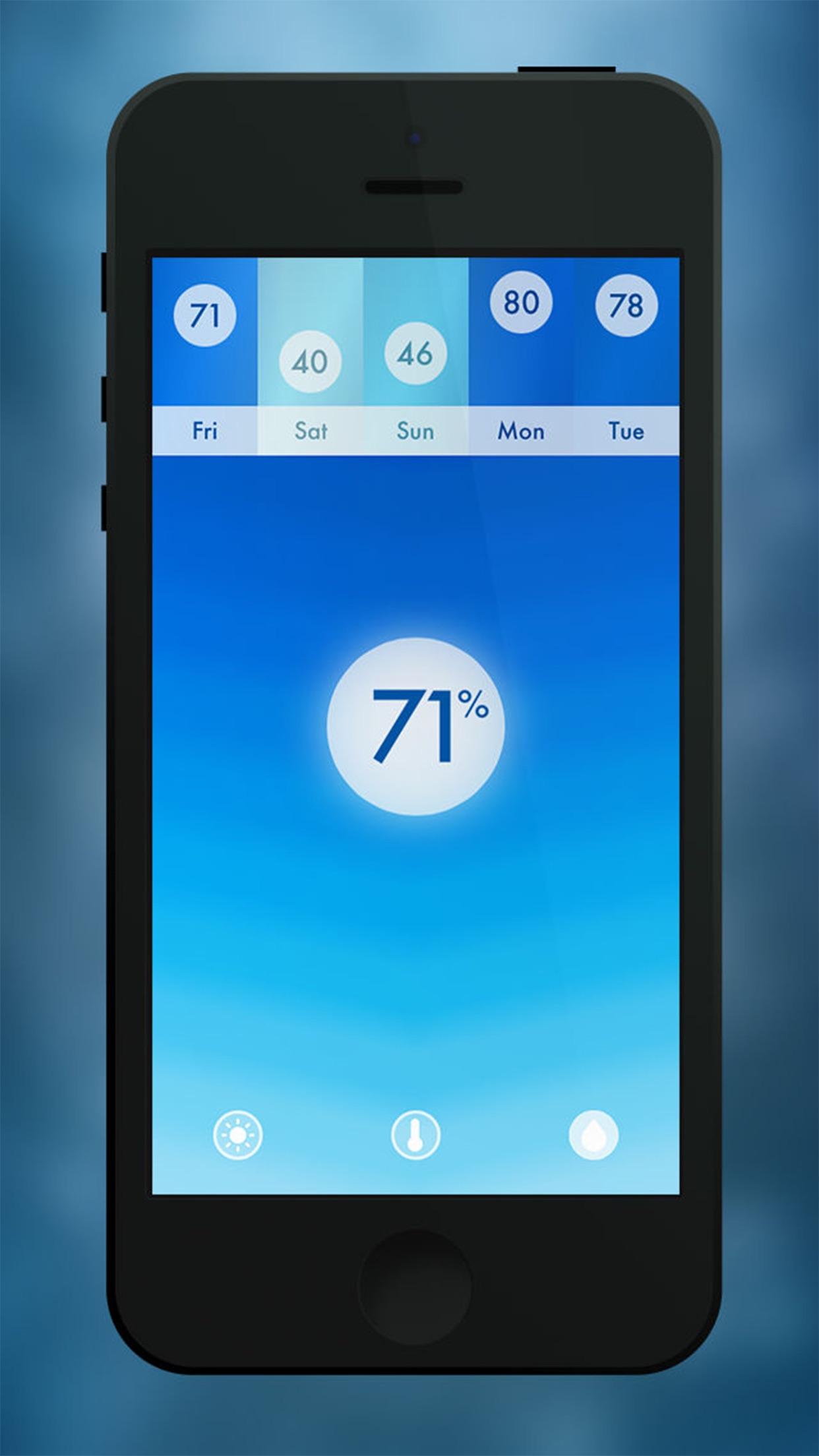 Haze ~ ilmateadete rakenduse ekraanipilt