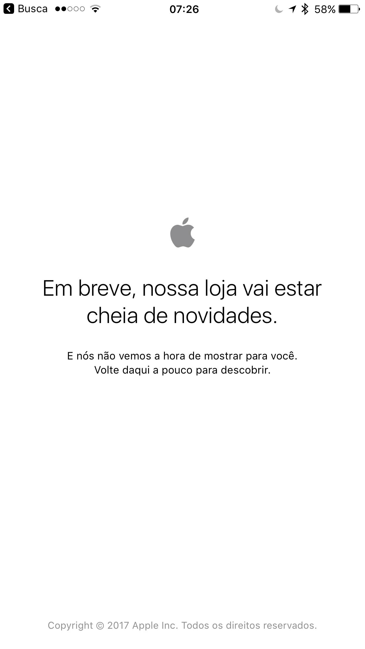 Apple'i veebipood pole ühenduseta