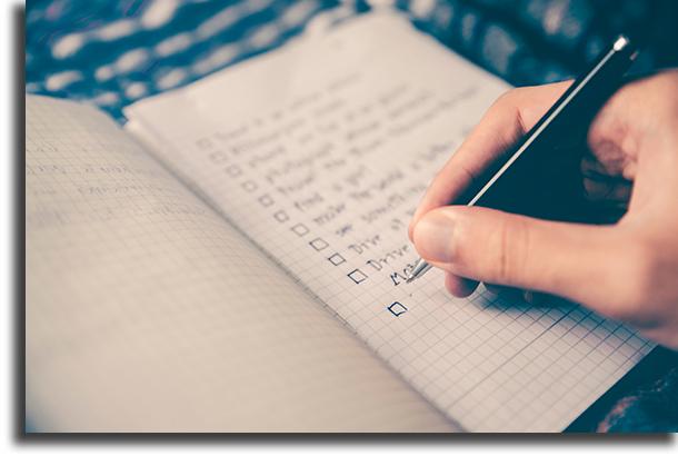 Koostage ideaalsete ülesannete loetelu, et olla produktiivsemad