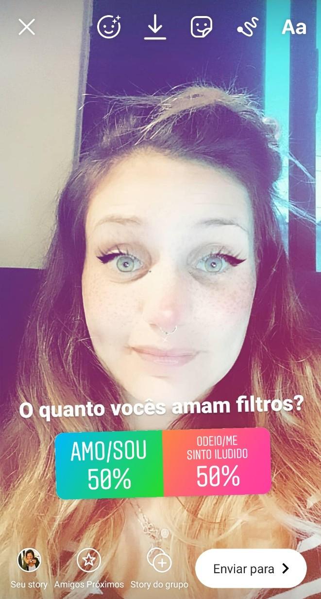 küsitlus Instagramis