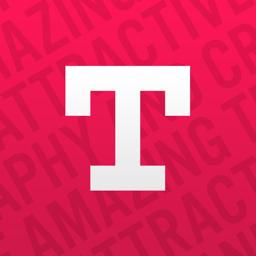 Typorama rakenduse ikoon: tekst fotoredaktoris