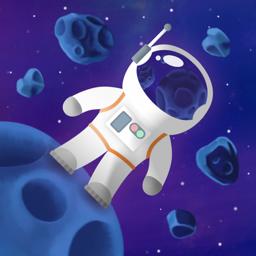 Kleepuva kosmoserakenduse ikoon