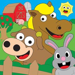 Animal Farm värvimisrakenduse ikoon mängude värvimisraamat