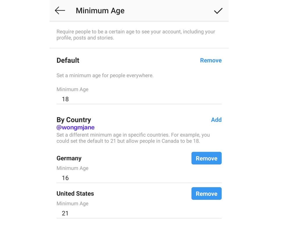 Instagram töötab funktsioonide abil, et seada profiilifoto külastajatele minimaalne vanus: Reproduo / Jane Manchun Wong