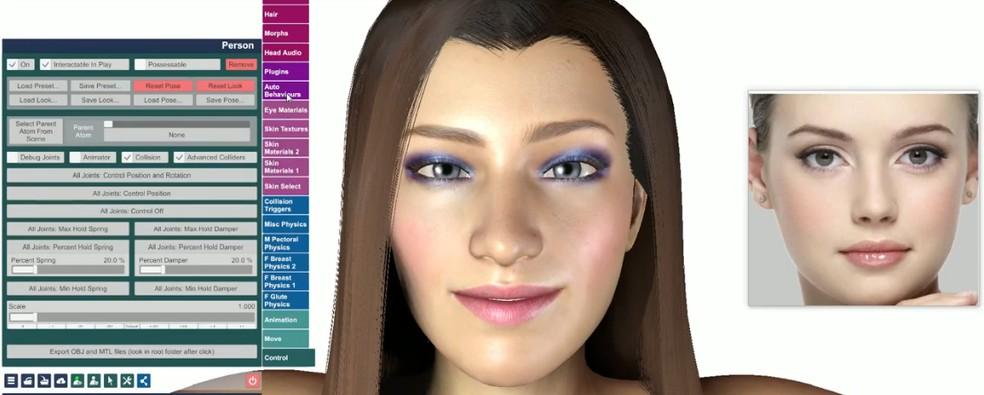 Virt-a-Mate programm loob fotodest 3D-mudeleid. Foto: Reproduo / YouTube (Alter3go)
