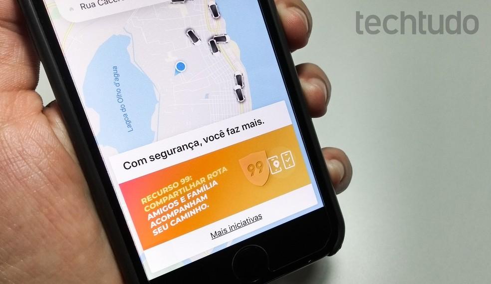 99 kasutab tehisintellekti, et vältida pahatahtlike kasutajate ohtlikku käitumist Foto: Rodrigo Fernandes / TechTudo