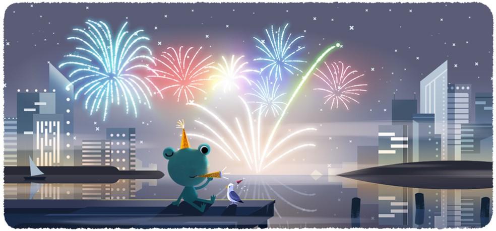Uue aasta logoga 2020 tähistab konnatihane kärnkonnat, kes tähistab aastavahetust Foto: Reproduo / Google