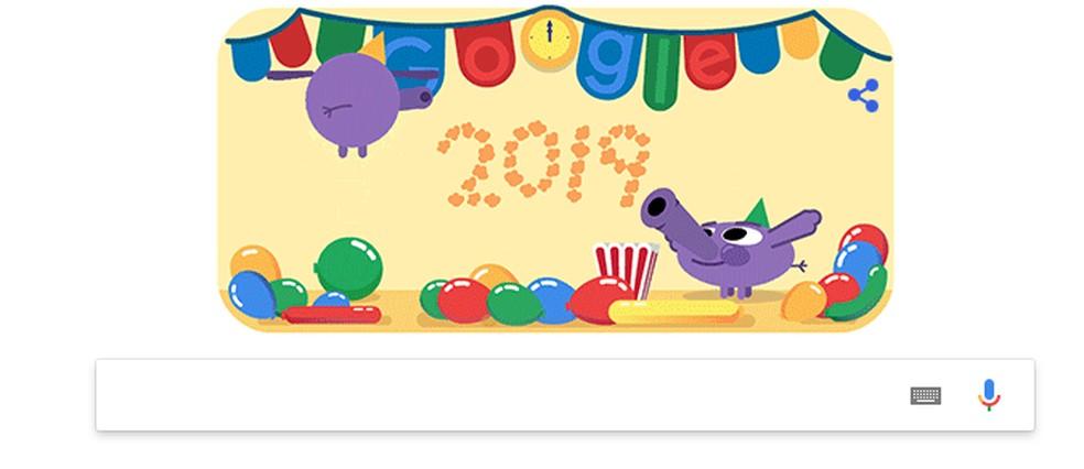 Google Doodle tähistab 2019. aasta fotode saabumist: Fotod: Reproduo / Google