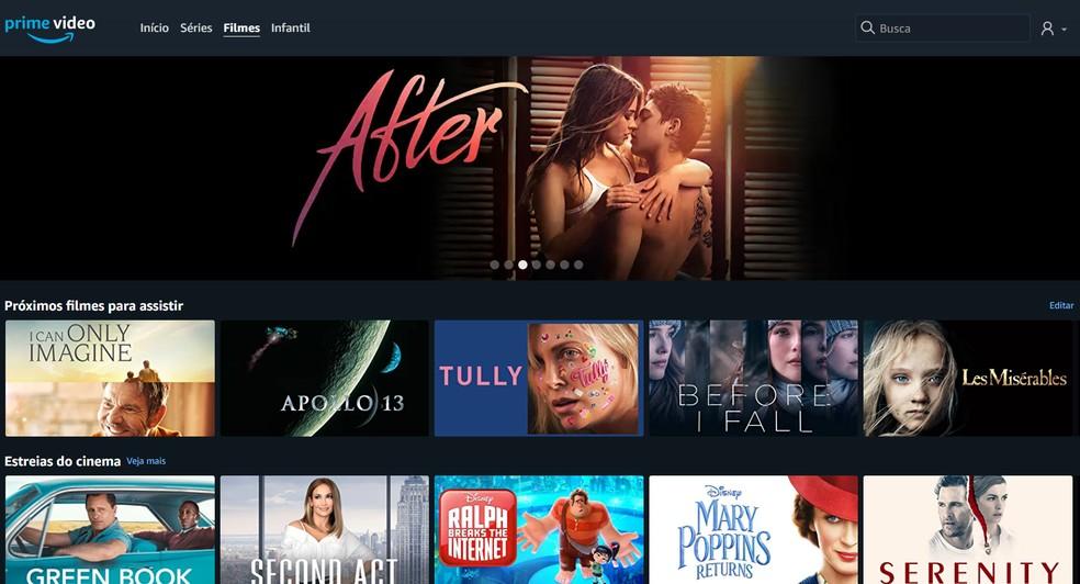 Amazoni Prime Video-l on eksklusiivsed filmid, seeriad ja lavastused.Foto: Reproduo / Filipe Garrett