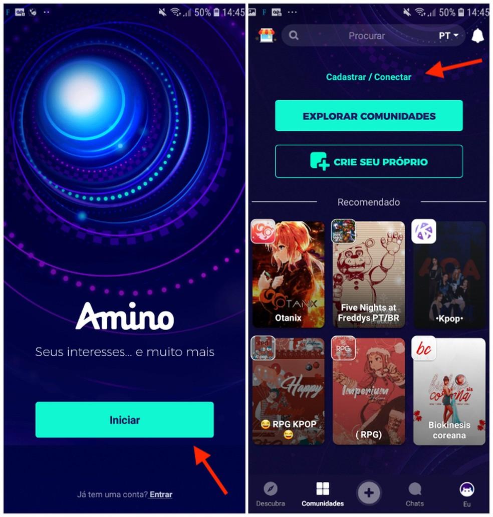 Amino Apps näitab kogukonda juba Fotode registreerimisel: Reproduo / Daniel Dutra