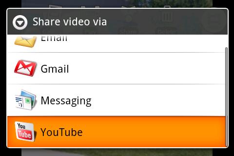 Android 1.5 võimaldab teil videoid otse YouTube'i üles laadida ja uudiseid saada