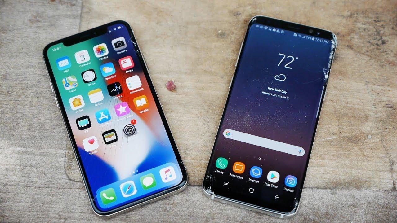 Apple edestas Samsungi nutitelefonide müügis 2017. aasta lõpus, näitavad uuringud