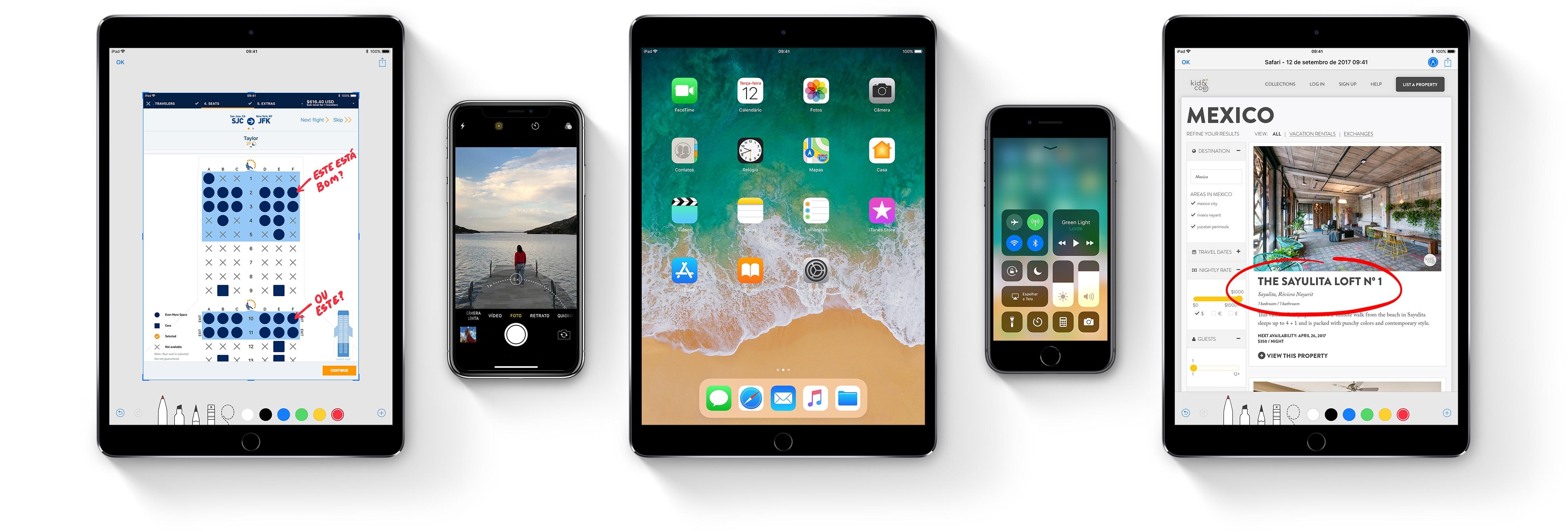 iPhone ja iPad, milles töötab iOS 11