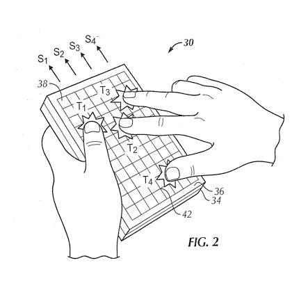 Apple'i tahvelarvutite puutetundliku klaviatuuri patent