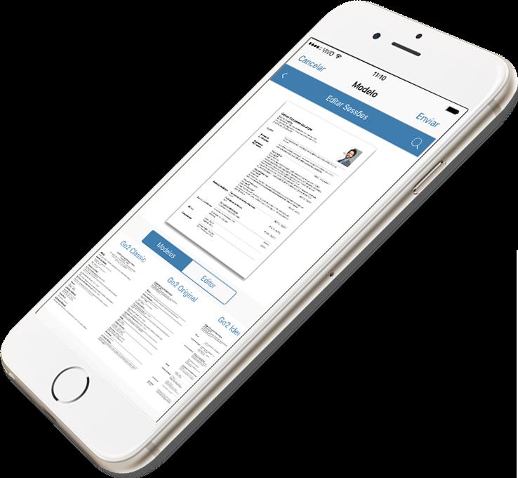 Brasiilia rakendus Go2Job võimaldab teil täielikke CV-sid luua ja saata oma iPhone'is või iPadis