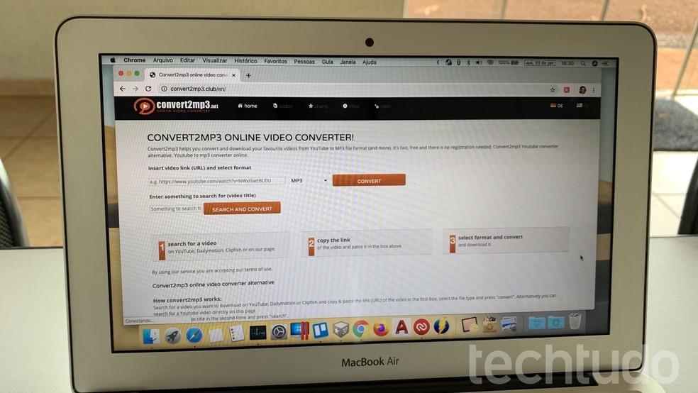 Siit saate teada, kuidas YouTube'i videoid alla laadida rakendusega Convert2mp3 Foto: Helito Beggiora / TechTudo