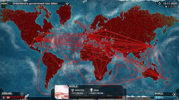 Plague Inc.-is kontrollivad mängijad surmavaid patogeene, mis levivad kogu maailmas